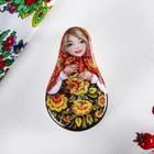 "Ceramic box ""Russian beauty"" (patterns), 5.1 x 8.8 cm"