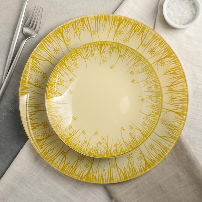 Сервиз столовый «Форест» на 6 персон: 6 тарелок d=20 см, 1 тарелка d=30 см - фото 634447