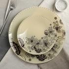 Сервиз столовый «Бисерное кружево», на 6 персон: 6 тарелок d=20 см, 1 тарелка d=30 см