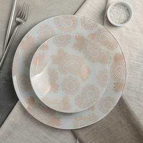 Сервиз столовый на 6 персон «Амина»: 6 тарелок d=20 см, 1 тарелка d=30 см