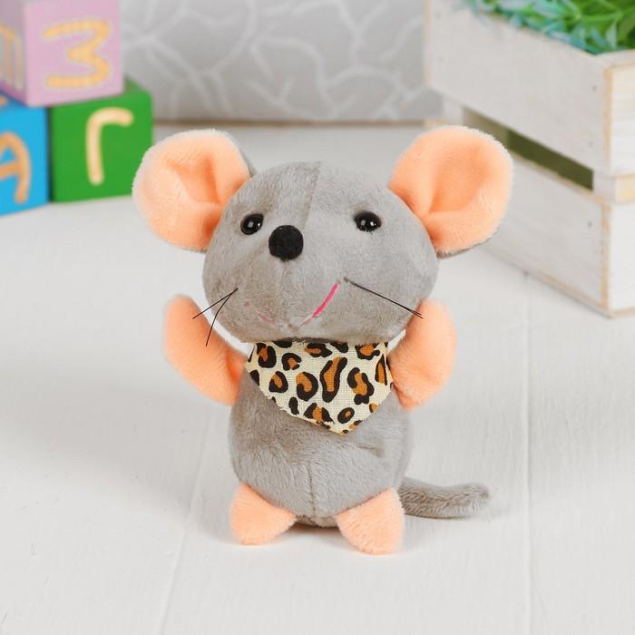 """Мягкая игрушка-брелок """"Мышка в платке"""" цвет МИКС"""