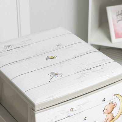 Комод детский 4-х секционный «Медведи», цвет бежевый