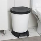 Ведро для мусора с педалью 18 л, цвет белый