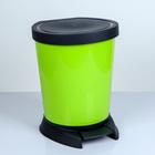 Ведро для мусора с педалью 10 л, цвет оливковый