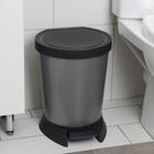 Ведро для мусора с педалью 10 л, цвет серый
