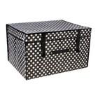 """Короб для хранения с крышкой 50х40х30 см """"Горошек"""", цвет черно-белый"""