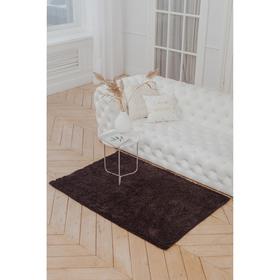Коврик «Букли длинные», 100×150 см, цвет коричневый
