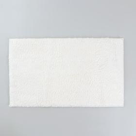 "Bathmat ""Thission"" 40x60 cm, hair length 1.5 cm, color white"