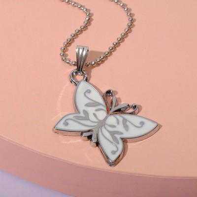 "Pendant ""Vibracula"" butterfly, white"