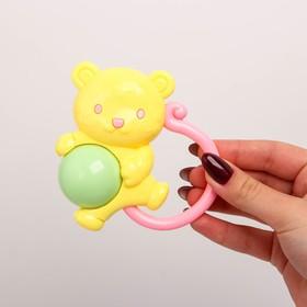 Погремушка «Мышка», цвет МИКС