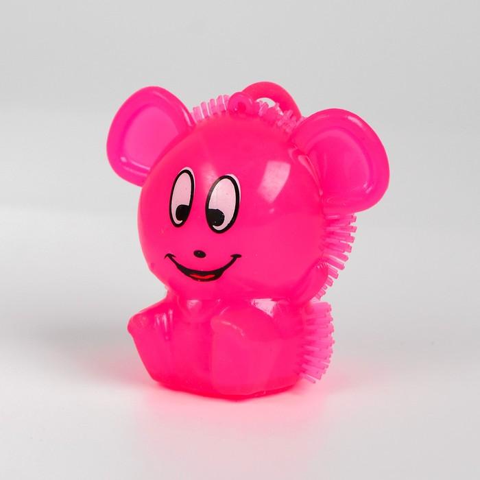 Ёжка световой «Ушастик», с пищалкой, цвета МИКС