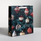 Пакет ламинированный вертикальный «Новогодние игрушки», XL 40 × 49 × 19 см