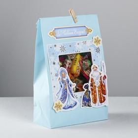 Пакет подарочный «Снегурочка и Дед Мороз», набор для создания, 15.5 × 28.5 см