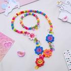 "Children set ""Vibracula"" 2 piece: pendant, bracelet, Daisy flowers fun"