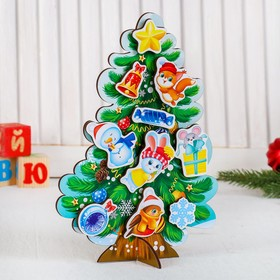 "Puzzle. Velcro ""Dress the tree"""