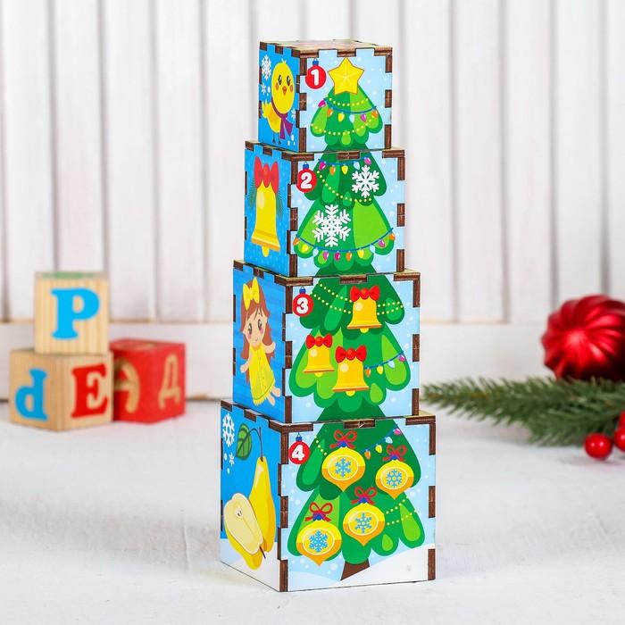 Кубики, пирамидка «Новый год»