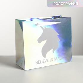 Пакет ламинат горизонтальный «Единорог», 27 х 23 х 11,5 см