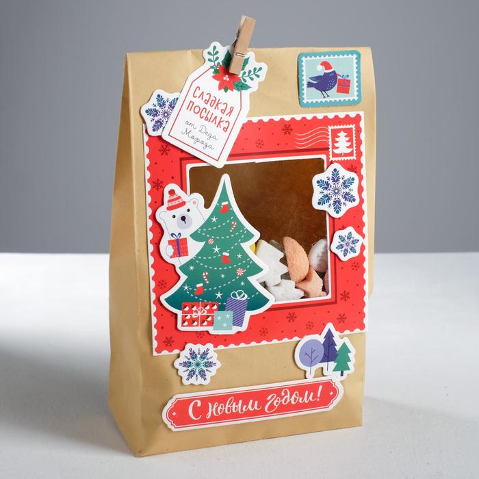 Пакет подарочный «Сладкая посылка», набор для создания, 15.5 × 28.5 см