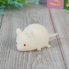 "Мялка ""Мышь"" с пищалкой, цвет белый"