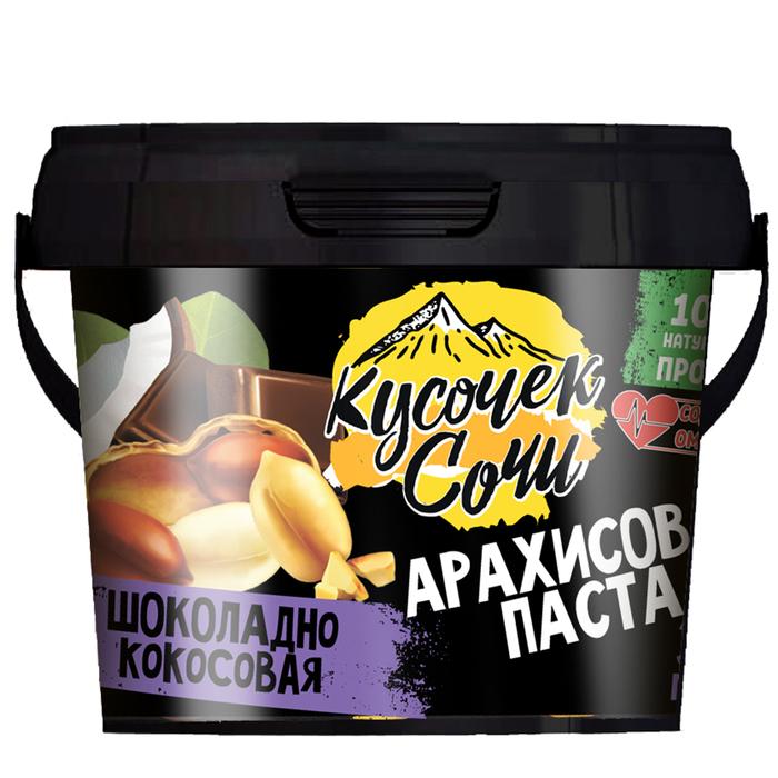 Арахисовая паста «Кусочек-Сочи» Шоколадно-кокосовая 300г