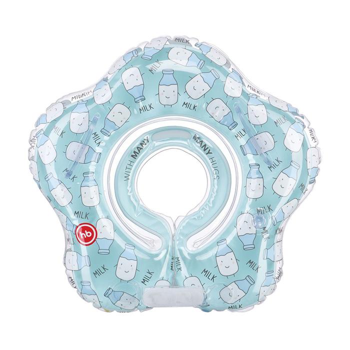 Круг для плавания Happy Baby Swimmer, 0-12 месяцев, цвет milk
