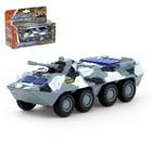 Машина металлическая «Военная», масштаб 1:54, свет и звук, инерция - фото 105654937
