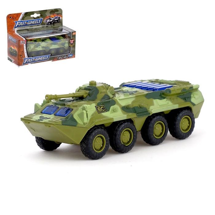 Машина металлическая «Военная», масштаб 1:54, свет и звук, инерция