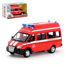 Машина инерционная «Пожарная охрана», масштаб 1:29, свет и звук