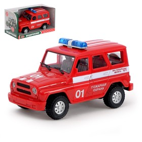 Машина инерционная «Пожарная охрана», свет и звук