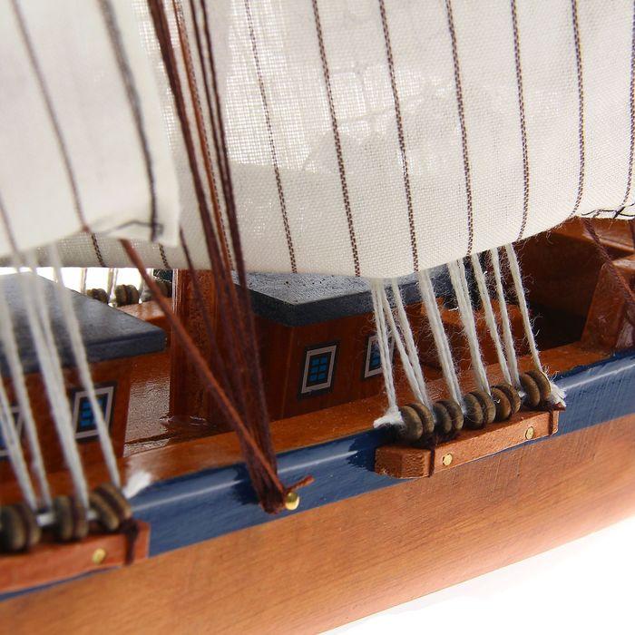 Корабль сувенирный большой «Симон Боливар», борта синие, паруса белые, 8 × 67 × 48 см