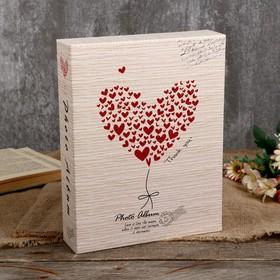 """Фотоальбом магнитный 20 листов """"Сердце/Цветок"""" в коробке МИКС 26,5х20,5х5 см"""