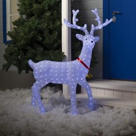 """Фигура акрил. """"Олень"""", 100х30х130 см, контр. низковольтный, 228 LED, 24V, белый"""