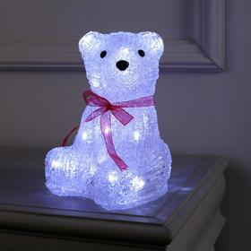 "Фигура акрил. ""Медвежонок"" 15х15х20 см, (АА*3 шт.не в компл.), 20 LED"