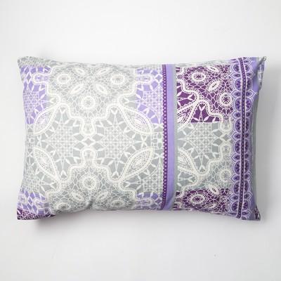 Наволочка Экономь и Я 50×70 «Ажур» цв. фиолетовый, 120 г/м², 100%хлопок, бязь