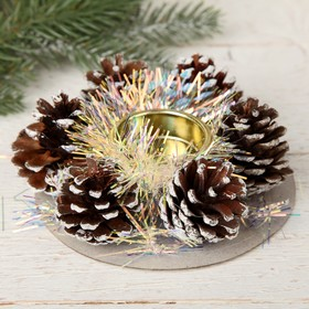 "Candle holder for one candle ""Tinsel"" bumps 12*4 cm"