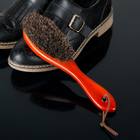 Щётка для одежды и обуви деревянная с ручкой 22,5×5,4×3,5 см натуральный ворс