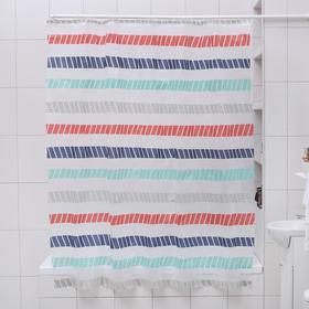 """Штора для ванной 180×180 см """"Полосатик"""", EVA"""