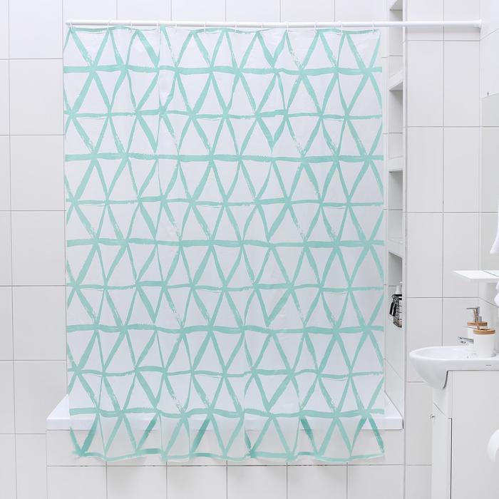 """Штора для ванной 180×180 см """"Ромбы"""", EVA"""
