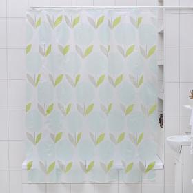 Штора для ванной комнаты Доляна «Одуванчики», 180×180 см, EVA - фото 4654671