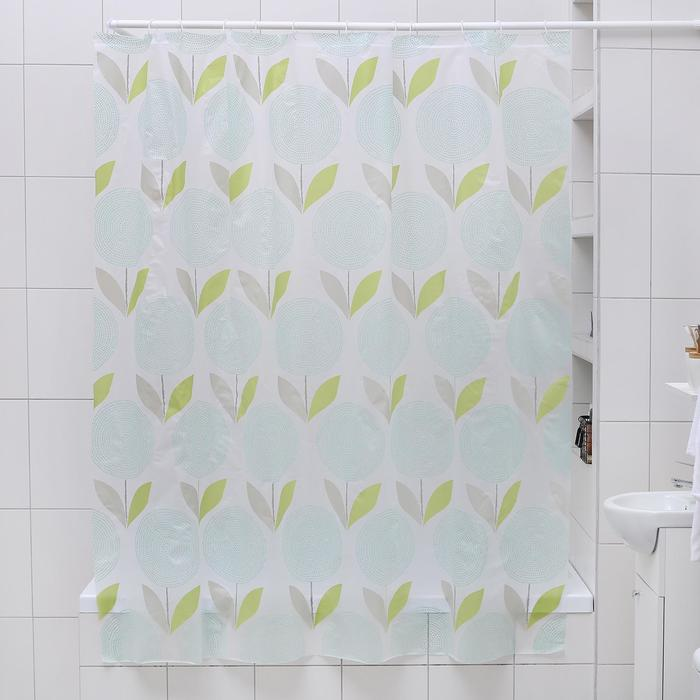 """Штора для ванной 180×180 см """"Одуванчики"""", EVA"""