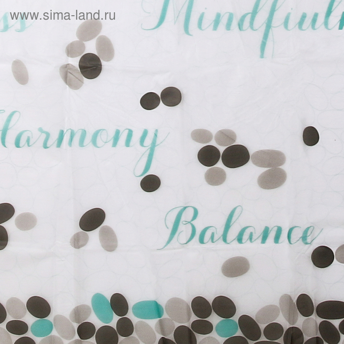 """Blind for the bathroom """"Words"""", 180х180 cm, EVA"""