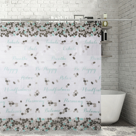 Штора для ванной комнаты Доляна «Слова», 180×180 см, EVA - фото 4654265
