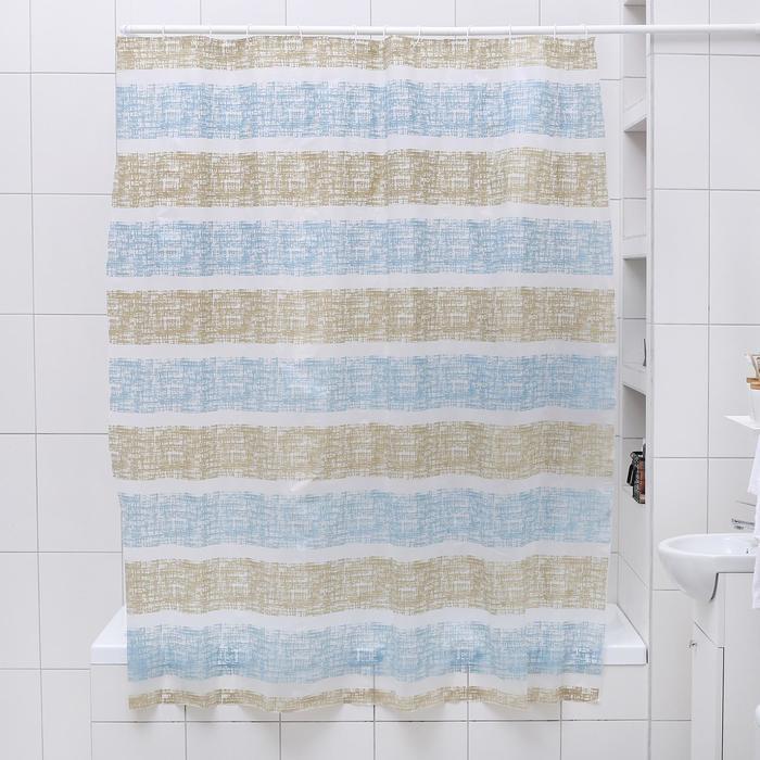 """Штора для ванной 180×180 см """"Полосы"""", EVA"""