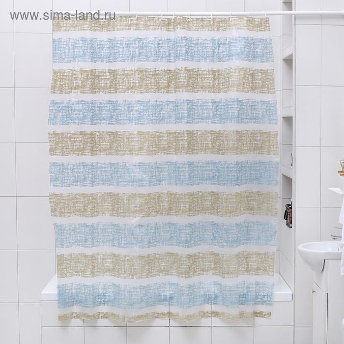 """Shower curtain 180×180 cm """"Strip"""", EVA"""