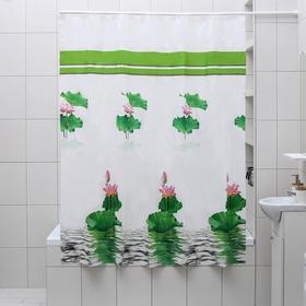 """Штора для ванной 180×180 см """"Лотос"""", EVA"""