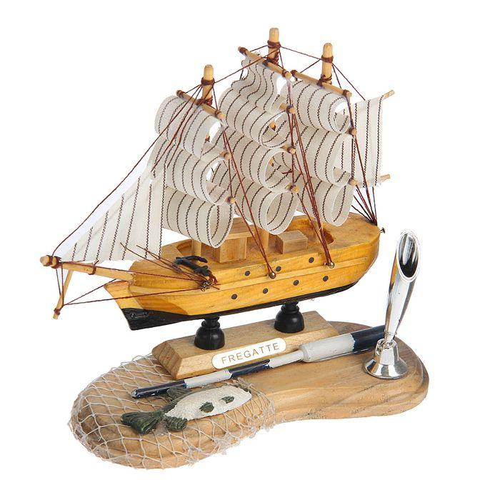 Декор настольный «Морская романтика» с подставкой для ручки, микс, 17 х 8 х 16 см