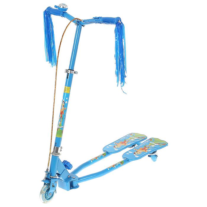Самокат-тридер детский, цвет голубой