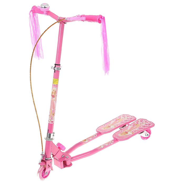 Самокат-тридер детский, цвет розовый