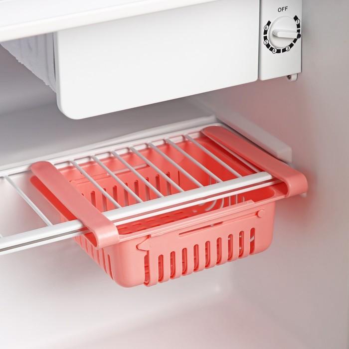 Полка подвесная в холодильник, раздвижная 23(28)×16,5×8 см, цвет МИКС