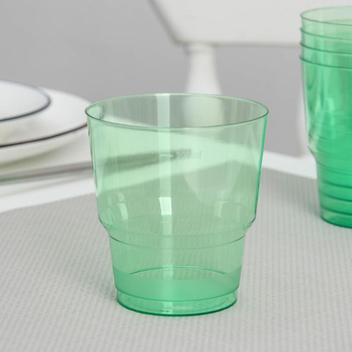 """Стакан 200 мл """"Кристалл"""", цвет зелёный"""
